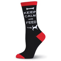 Product Image for Keep Calm & Feed the Dog Women's Socks