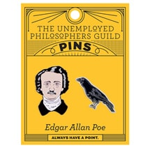 Alternate Image 1 for Edgar Allan Poe Enamel Pins - set of 2