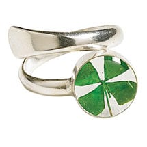 Alternate Image 1 for Four Leaf Clover Jewelry - Ring