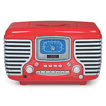 Product Image for Corsair Clock Radio/CD Player with Bluetooth - Red