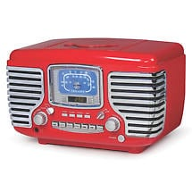 Alternate Image 2 for Corsair Clock Radio/CD Player with Bluetooth - Red