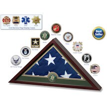 Product Image for Military Service Branches US Flag Frame