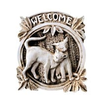 Alternate Image 1 for Cat Welcome Plaque