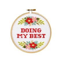 Product Image for Sarcastic Cross Stitch Kit - Doing My Best