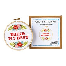 Alternate Image 2 for Sarcastic Cross Stitch Kit - Doing My Best