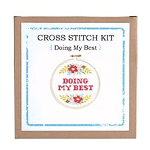 Alternate Image 3 for Sarcastic Cross Stitch Kit - Doing My Best