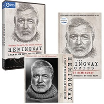 Hemingway: A Film by Ken Burns and Lynn Novick DVD, Companion Book & CD Soundtrack Bundle