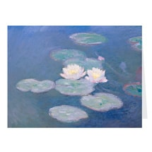 Alternate Image 1 for Monet Water Lilies Notecards