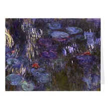 Alternate Image 3 for Monet Water Lilies Notecards